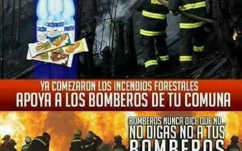 Un llamado a toda la comunidad para cooperar con agua mineral y barras energéticas para los bomberos y brigadistas de Conaf, quienes luchan incansablemente ante los diversos incendios forestales que […]